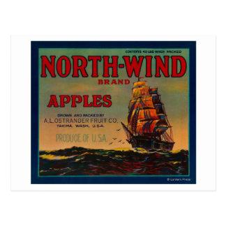 North Wind Apple Crate LabelYakima, WA Postcards