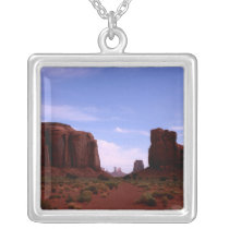North Window, Monument Valley Silver Plated Necklace