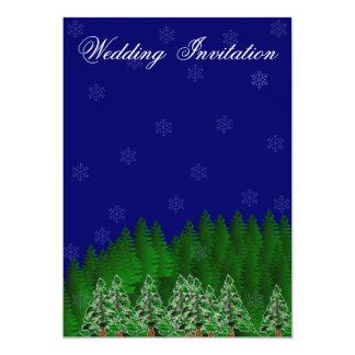 North Woods Winter Wedding Invitation