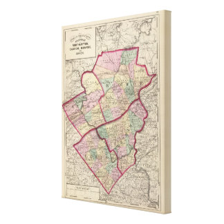 Northampton, Carbon, Monroe, Lehigh counties Canvas Print