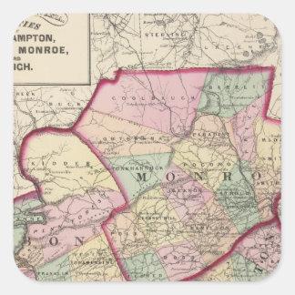 Northampton, carbono, Monroe, condados de Lehigh Pegatina Cuadrada