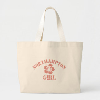 Northampton Pink Girl Tote Bags