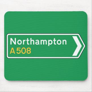 Northampton, UK Road Sign Mouse Pad
