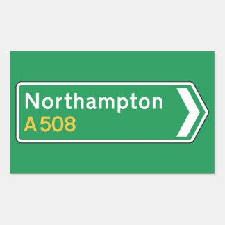 Northampton, UK Road Sign Rectangular Sticker