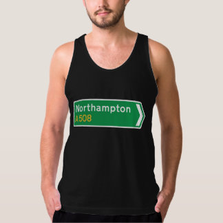 Northampton, UK Road Sign Tank Top