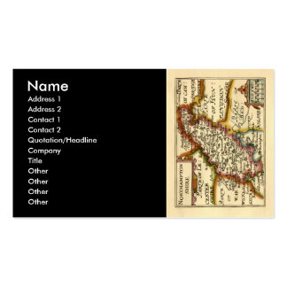 Northamptonshire County Map, England Double-Sided Standard Business Cards (Pack Of 100)
