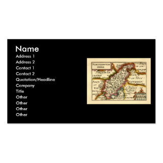 Northamptonshire County Map, England Business Card