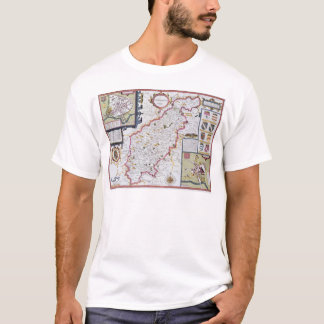 Northamtonshire, engraved by Jodocus Hondius T-Shirt