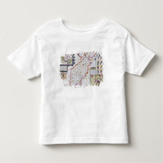 Northamtonshire, engraved by Jodocus Hondius Toddler T-shirt
