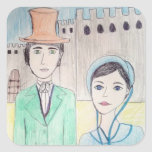 Northanger Abbey Square Stickers