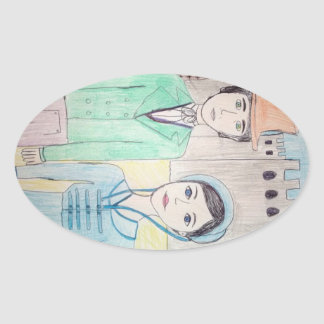Northanger Abbey Oval Stickers