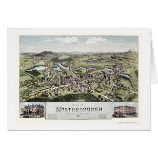Northborough, MA Panoramic Map - 1887 Greeting Cards