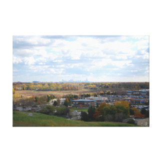 Northbrook Willow Hill View of the Chicago Skyline Canvas Print