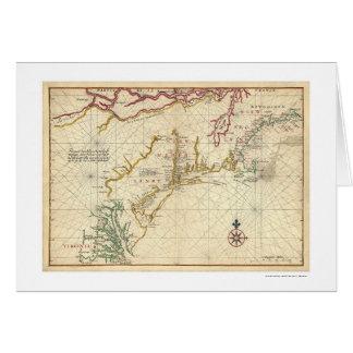 Northeast Coast USA Map 1639 Card