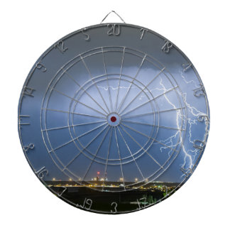 Northeast Colorado Lightning Strike and City Light Dart Board