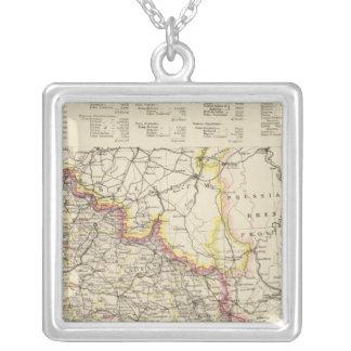 Northeast France Square Pendant Necklace
