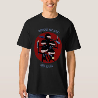 Northeast New Jersey Word Nenjas Black Shirt