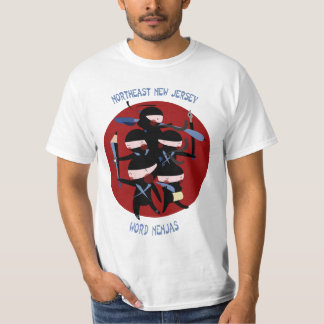 Northeast New Jersey Word Nenjas T-Shirt