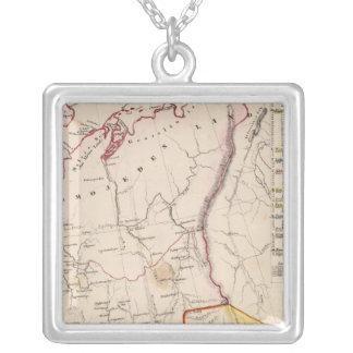 Northeast Russia 2 Square Pendant Necklace