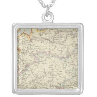 Northeast Russia Square Pendant Necklace