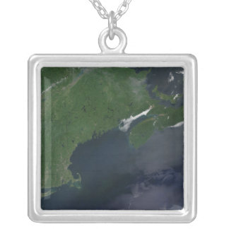 Northeast United States and Canada Square Pendant Necklace