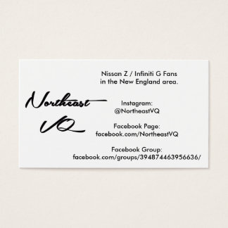 Northeast VQ Advertisement Cards