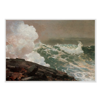 Northeaster, 1895 Winslow Homer Poster