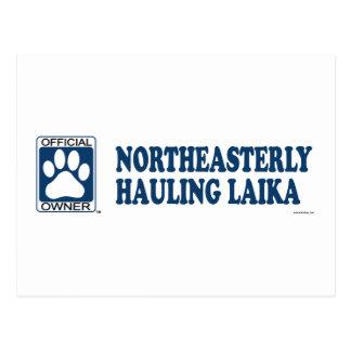 Northeasterly Hauling Laika Blue Postcard