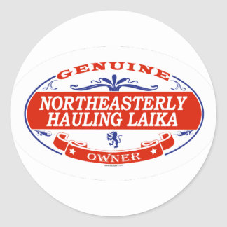 Northeasterly Hauling Laika  Classic Round Sticker