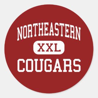 Northeastern - Cougars - High - Champlain New York Classic Round Sticker