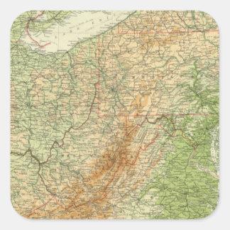 Northeastern states square sticker
