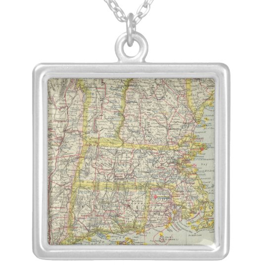 Northeastern United States 2 Silver Plated Necklace