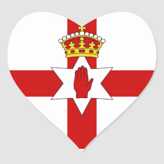 Norther Ireland ulster flag Heart Sticker
