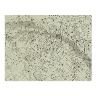 Norther Night Sky map Postcard
