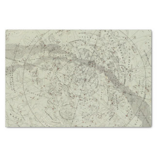 Norther Night Sky map Tissue Paper