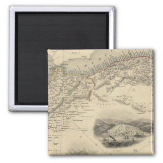 Northern Africa 2 Inch Square Magnet