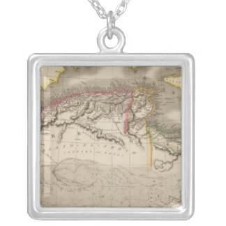 Northern Africa 2 Square Pendant Necklace
