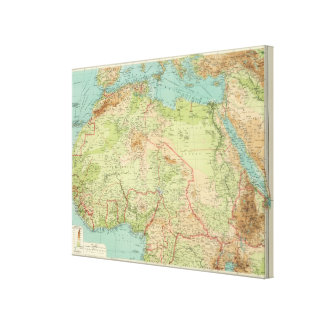 Northern Africa with shipping routes Canvas Print