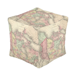 Northern America Cube Pouf
