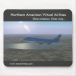 Northern American Virtual Airlines Mouse Pad