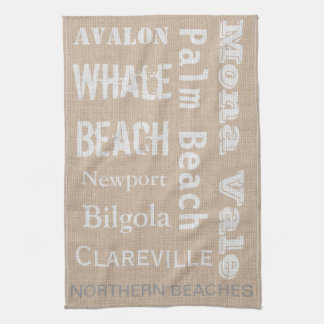 Northern Beaches linen-look Towel