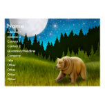 Northern Bear Profile Card Large Business Cards (Pack Of 100)