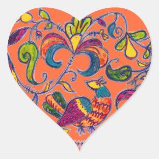 Northern Bird from Russia Heart Sticker