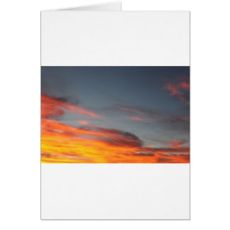 Northern CA evening sky... Card