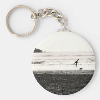 Northern California Beach Scene Keychain