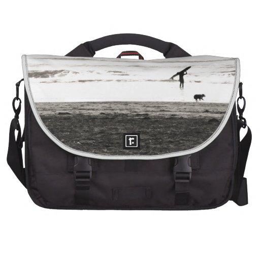 Northern California Beach Scene Laptop Bags