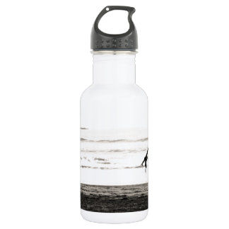Northern California Beach Scene Water Bottle