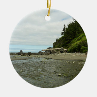 Northern California Coastline from Redwood Park Ceramic Ornament