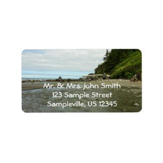 Northern California Coastline from Redwood Park Label