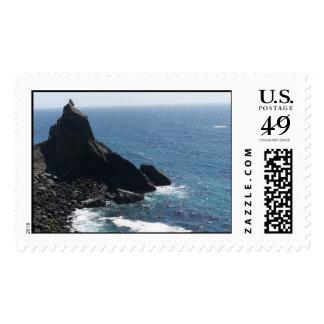 Northern California Oceanside Postage Stamp